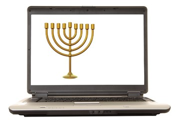 laptop menorah