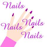 pink manicure fingernails poster