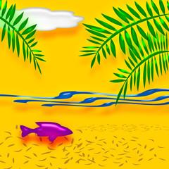 tropic beach vacation