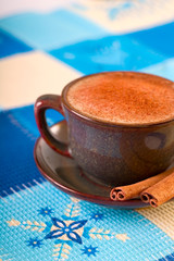 winter coffee with cinnamon