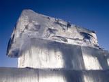 big translucent ice blocs in the sunshine poster