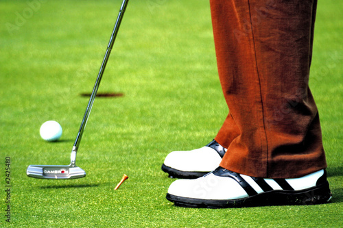 golfer putting the ball up close and personal