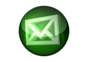 mail icon 3d aqua button