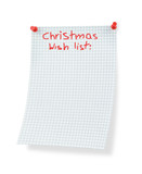 christmas wish list poster