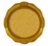 circular golden frame poster