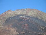volcanic spouts on the side of el teide
