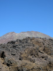 black lava rocks near the el teide