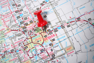 denver colorado on the map