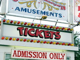 admission marquee for carnival ticketss poster