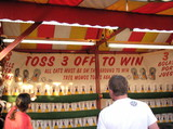 carnival game booth poster