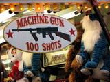 carnival game, machine gun poster