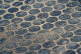 circle pattern walkway poster