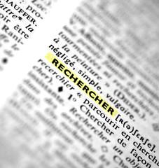 """définition de """"rechercher"""" dans un dictionnaire"""