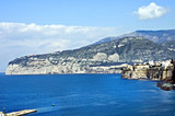 scenic view of sorrento peninsula poster