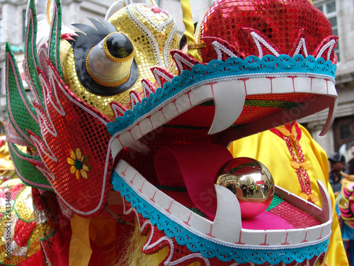 chinese new year dragon in street