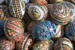 easter eggs with floral and geometrical design