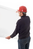 engineer, showing a white paper poster