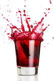 Fototapety red liquid splash