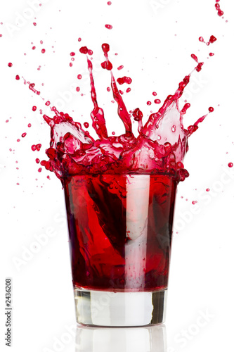 Leinwandbild Motiv red liquid splash