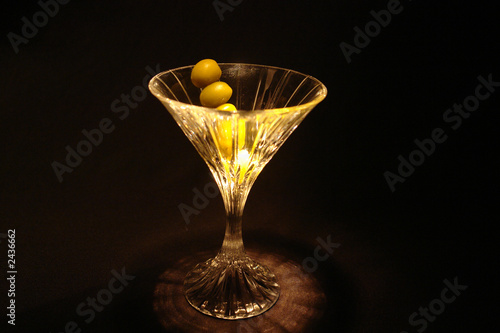 olives in martini glass