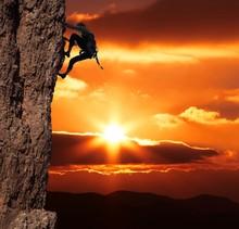 grimpeur sur sanset