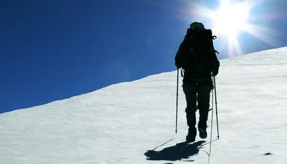 climber and sun
