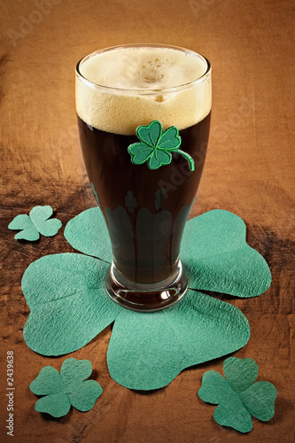 dark irish beer for st patick's day