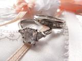 wedding ring and band - diamond and platinum on photo album 3 poster