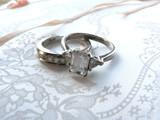 wedding ring and band - diamond and platinum on photo album 2 poster