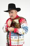 cowboy with holster over shoulder poster