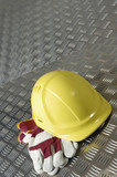 hard-hat, blue-collar construction concept poster