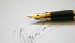 pen and signature