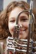 maedchen mit trompete