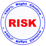 stamp with -risk- word poster
