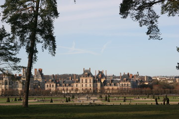 palace and park in fontainebleau