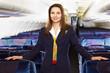 Leinwanddruck Bild - air hostess (stewardess)