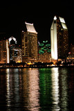 san diego cityscape at night poster
