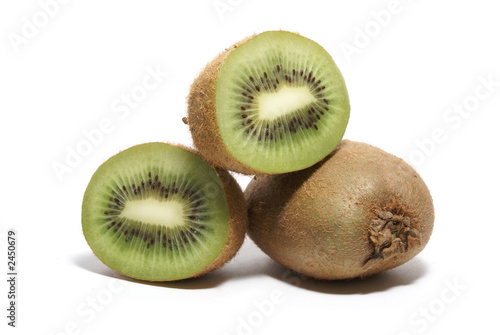 kiwi fruits isolated on white
