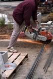 mason,sawing,rebar poster