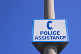 police assistance sign poster
