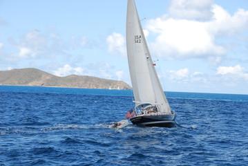 segelboot in der karibik