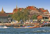 long tail boat in bangkok poster