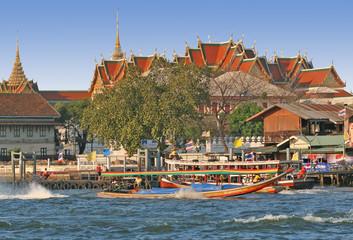 long tail boat in bangkok