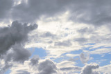 massive stormy clouds poster