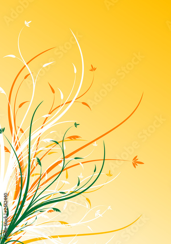 Leinwanddruck Bild abstract spring floral decorative background vector illustration