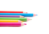 cheerful color pencils poster