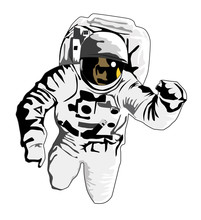 astronauta lecący