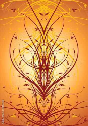 Leinwanddruck Bild abstract floral decorative vertical background vector illustrati