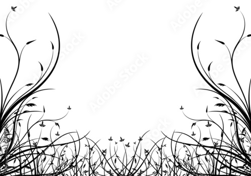 Leinwanddruck Bild abstract spring floral decorative isolated background vector ill
