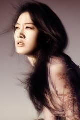 windblown asian beauty